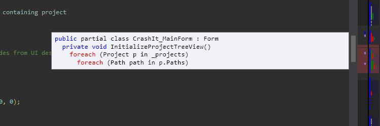 StructureMargin tooltip running in Visual Studio 2012 with the Dark theme.
